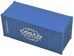 Container maritime 20 pieds Cosco Shipping