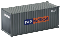 Container maritime 20 pieds P&O Nedlloyd