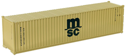 Container maritime 40 pieds MSC