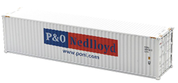 Container maritime 40 pieds P&O Nedlloyd blanc