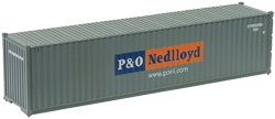 Container maritime 40 pieds P&O Nedlloyd gris