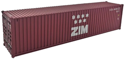 Container maritime 40 pieds ZIM